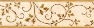 Kamelia (светло-кремовый) бордюр, 25х7,6