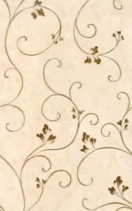 Kamelia декор (светло-кремовый), 25х40