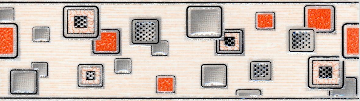 Laura Cube бордюр (оранжевый), 20х5,7
