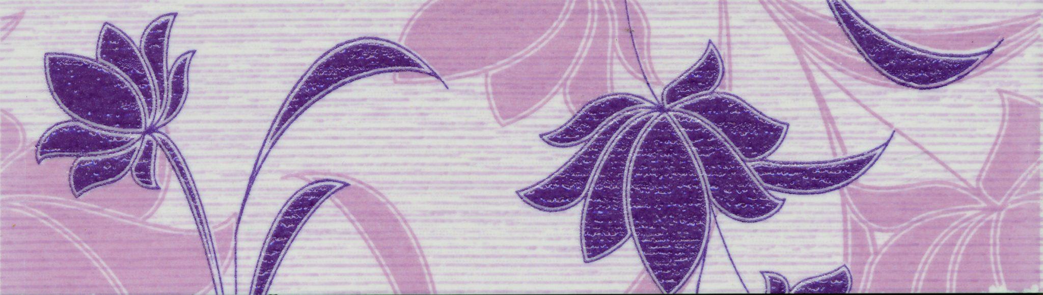 Laura Flowers (сиреневый) бордюр, 20х5,7