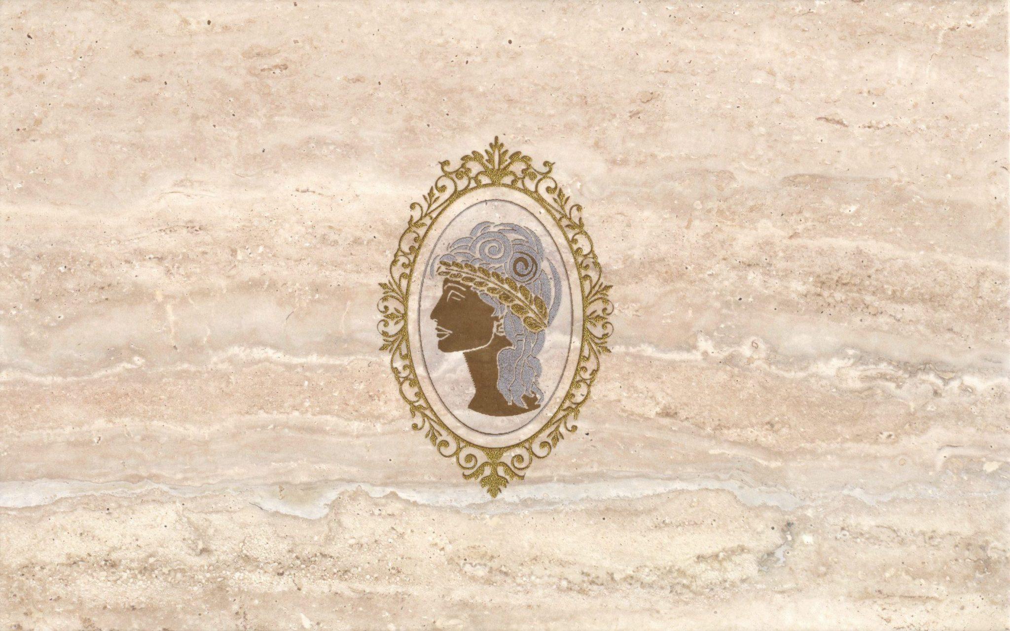 Travertin Medalion декор настенный 2 (кремовый), 25х40