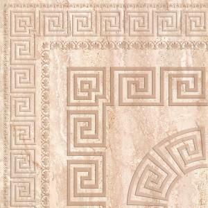 Travertin Medalion декор напольный угловой(кремовый), 30х30