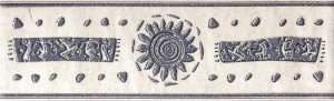 Sparta Солнце бордюр, 25х7,6