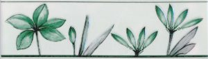 Бордюр 5,7х20 Валентино Цветы зеленый