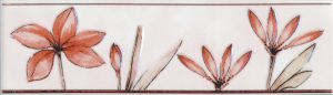 Бордюр 5,7х20 Валентино Цветы розовый
