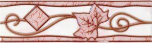 Бордюр 5,7х20 Тибет розовый