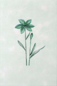 Декор 20х30 Валентино Цветы зеленый