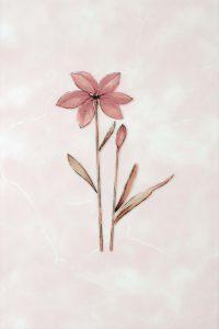 Декор 20х30 Валентино Цветы розовый