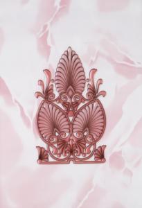Декор 20х30 Восток розовый